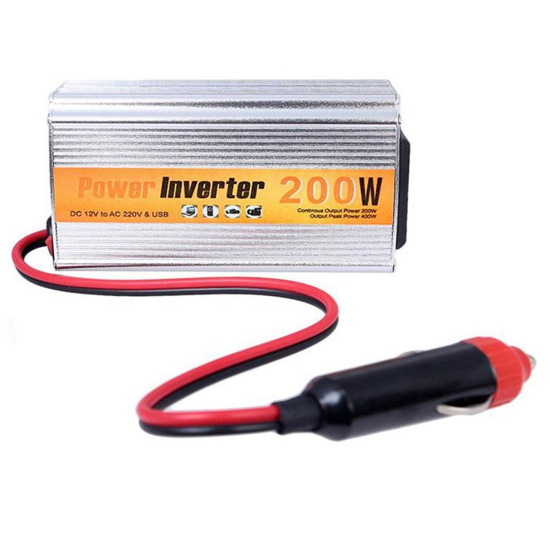 200W DC to AC Power Inverter - Car Cigarette Lighter Charger