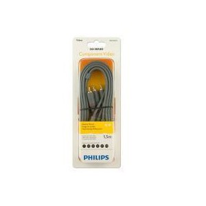 Philips SWV4126S/10 200 Series 1.5m 3RCA - 3RCA Component Video Cable