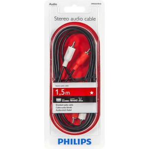 Philips SWA2521W/10 100 Series 1.5m 2RCA - 2RCA Stereo Audio Cable