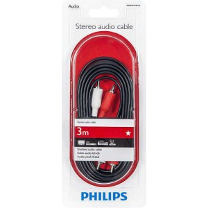 Philips SWA2523W/10 100 Series 3.0m 2RCA - 2RCA Stereo Audio Cable