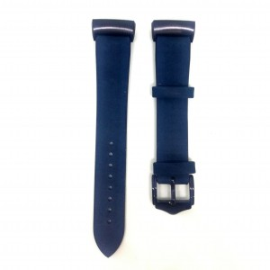 Fitbit Charge 3 Replacement Leather Strap Band - Navy Blue