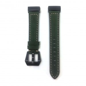 Fitbit Charge 3 Replacement Leather Strap Band - Green Stitched