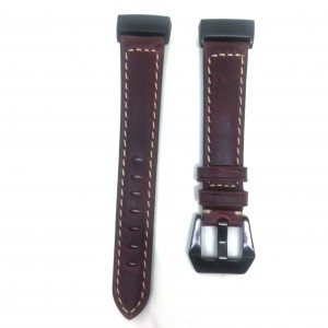 Fitbit Charge 3 Replacement Leather Strap Band - Ox Brown Stitched