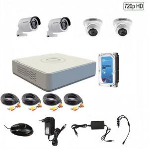 Hikvision 720P 4 Channel Turbo HD CCTV Kit w/1TB Hard Drive - 720P