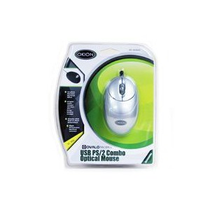 Okion MO287UP-SLV Ovalo Silver Optical USB+PS/2 Combo Mouse