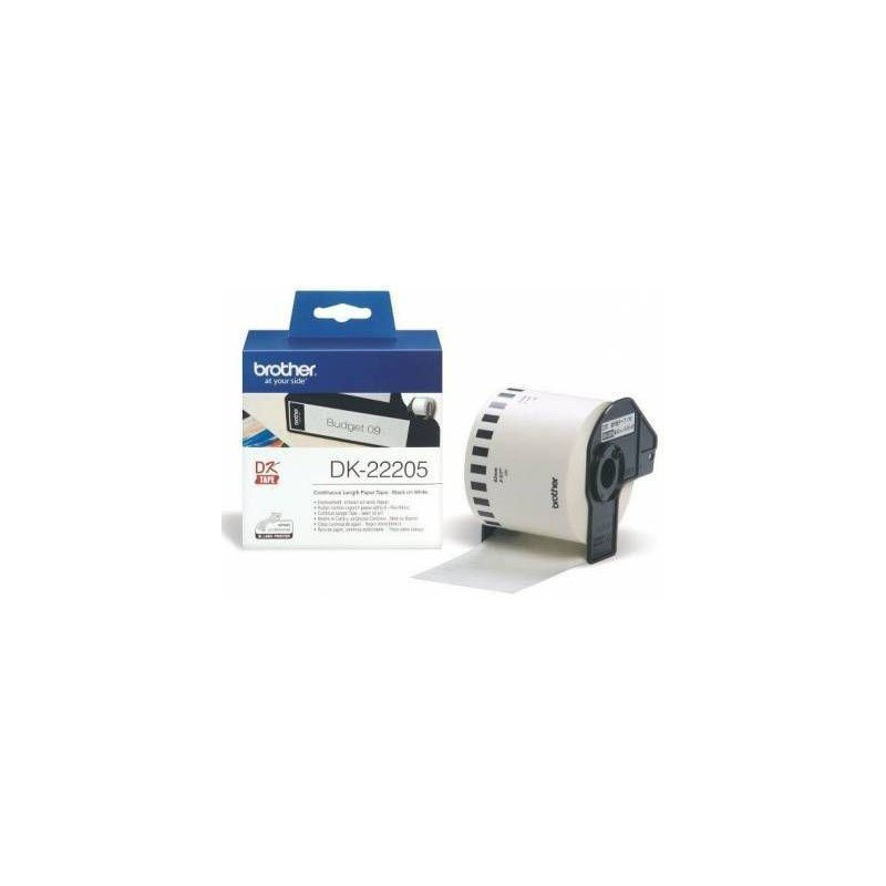 Brother MDK22205 Continuous Length Paper Tape (62mm X 30.48m) Wide