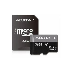 Adata AUSDH32GUICL10-RAI Class 10 Micro SDHC 32GB With Adapter