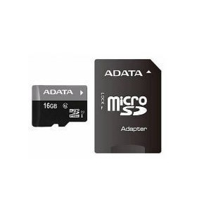 Adata AUSDH16GUICL10-RA1 Class10 Micro SDHC 16GB + Adapter