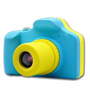 "Kids Digital Full HD Mini Action Camera 5MP with Micro SD 1.5"" Display Colour Screen - Blue and Yellow"