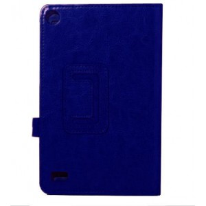 Kindle Fire HD7 2017 Foldable Leather Case Cover - Blue