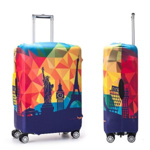 Printed Luggage Protector Cover