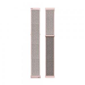 Fitbit Versa Woven Nylon Watch Strap -Pink