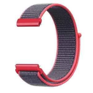 Fitbit Versa Woven Nylon Watch Strap -Red