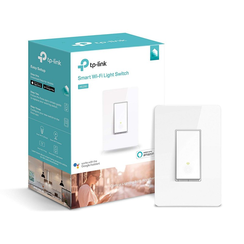 3c8be785b821 TP-Link Smart WiFi Light Switch (No Hub Required) - Control Your Lights  From Anywhere, Works with Amazon Echo & Google Home (HS200) - GeeWiz