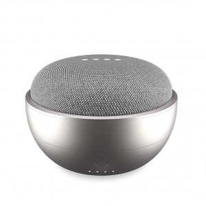 JOT Portable Battery Base for Google Home Mini - Silver
