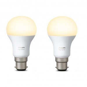 Philips Hue White Wireless LED Light Bulb 9W 806LM  B22 (Works with Alexa, Google Assistant, HomeKit) - 2 Pack