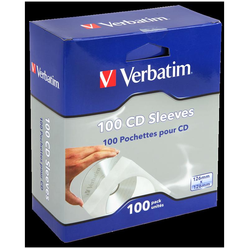 Verbatim M49976 CD Sleeves - 100 Pack