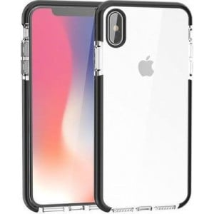 Tuff-Luv  A1_332 2-in-1 Color Touch Shell Case for Apple iPhone XS Max (Black and Clear)