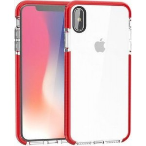 Tuff-Luv  A1_335 2-in-1 Color Touch Shell Case for Apple iPhone XS Max - Red and Clear