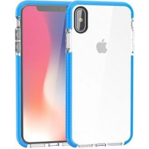 Tuff-Luv A1_341 2-in-1 Color Touch Shell Case for Apple iPhone XR - Blue and Clear