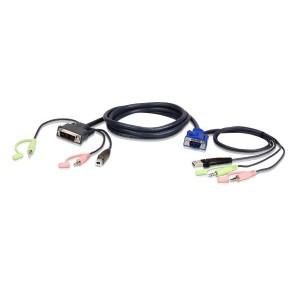 Aten 2L-7DX3U  3m USB VGA to DVI-A KVM Cable