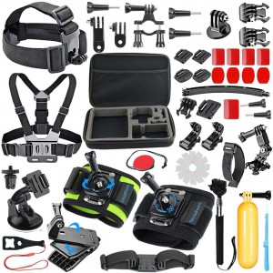 Go Pro Ultimate Combo Kit - 51 in 1 Action Camera Accessory Kit for GoPro Hero 7,6,5,4 Hero 2018,Hero Session Cameras