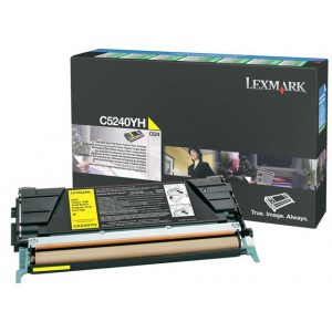 Lexmark LC5240YH Yellow High Yield Return Programme Toner Cartridge