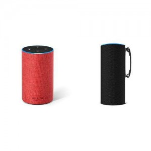 SKY TOTE Portable Battery Base for Echo 2 - Red