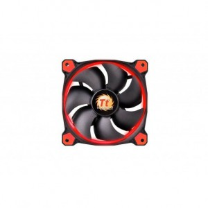 Thermaltake CL-F038-PL12RE-A Riing 12 High Static Pressure LED Radiator Fan - Red