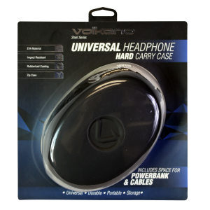 Volkano VK-7045-BK Shell Series Elliptical Headphone Case - Black