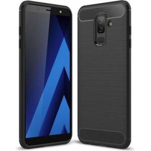 Tuff-Luv D3_101 Brushed Texture Carbon Fiber Shockproof Case for Samsung A6 Plus - Black