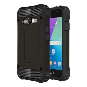 Tuff-Luv B1_65 Tough Armour Combination Shell Case for Samsung Galaxy J1 Mini Prime and J106 - Black