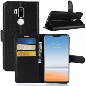 Tuff-Luv  D3_110 Essentials Flip Leather Case with Holder & Wallet & Card Slots for LG G7 ThinQ - Black