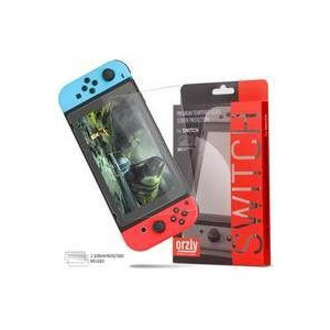 Orzly 2NSWSCRGLTWIN Tempered Glass Screen Protector for Nintendo Switch (Twin Pack)