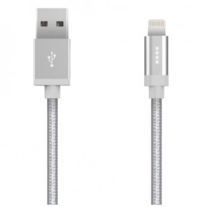 Kanex Lightning to USB Cable with 4 LED 1.2M - Silver