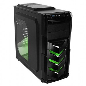 Raidmax VORTEX 402 V4 Black & Green Gaming Chassis