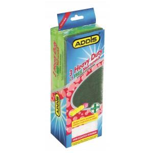 Addis AD9033 Jumbo Sponge Scourers 4 Pack