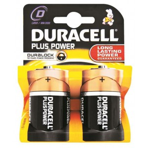 Duracell D023253 Plus Power D 2'S 10 (10 Packs per box )