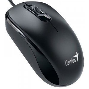 Genius 31010116100 DX-110 Ambidextrous Wired Optical Mouse - Black