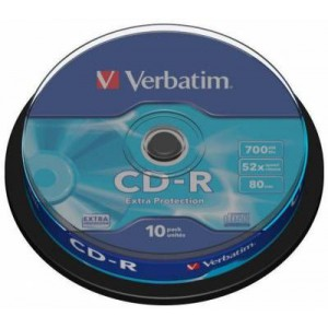 Verbatim M43437 CD-R 52X 700mb Extra Protection Non A20 - 10 Pack
