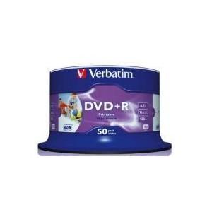 Verbatim M43512 DVD+R Printable 16X 50 Pack Spindle