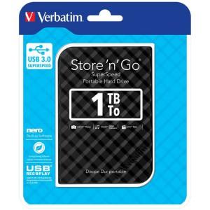 """Verbatim M53194 Hard Drive 2.5"""" 1TB USB 3.0 Black"""