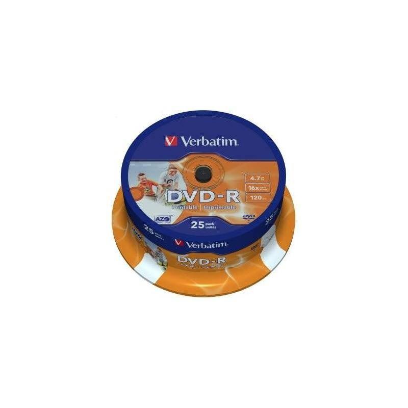 Verbatim M43538 DVD-R Wide Photo Printable 25 Pack Spindle