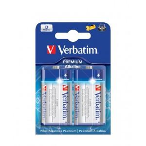 Verbatim M49923 Alkaline D Battery 2 Pack