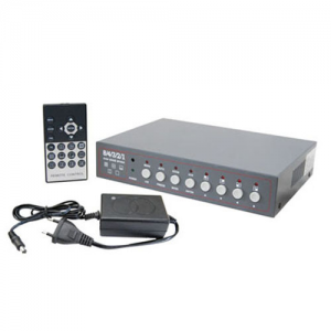 Securi-Prod CC146 8 Channel Colour Duo Page Quad with AC Adaptor