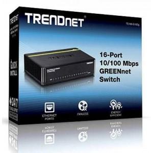 Trendnet TE100-S16DG 16-port 10/100Mbps GreeNnet Desktop Switch