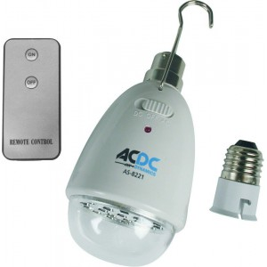ACDC AS-8221 230VAC 22 LED Rechargeable Lamp B22  C/W E27 LHA and Remote