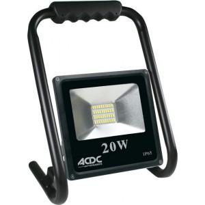 ACDC Dynamics 85/265VAC 20W Cool White LED Flood Light C/W Stand IP65