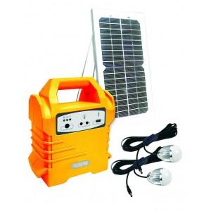 ECOBOXX 50  5Wp Solar Panel, 2x 3W LED Lights,4Ah Battery