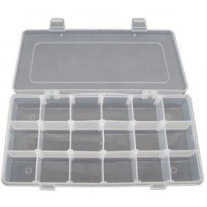 ACDC MJ-10310  Transparent Storage Case 18 Comp. 310x200x45mm